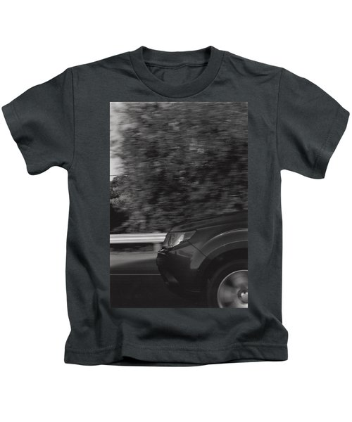 Wheel Blur Photograph Kids T-Shirt