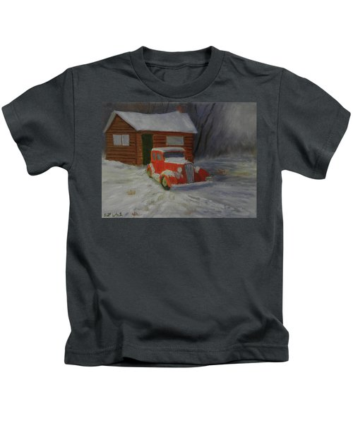 When Cars Were Big And Homes Were Small Kids T-Shirt