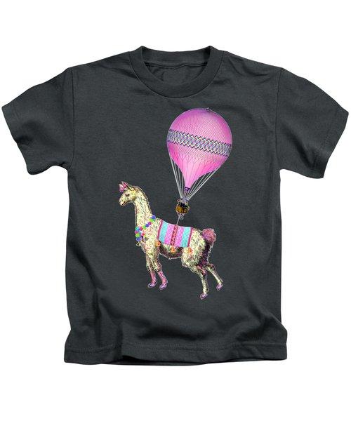 Flying Llama Kids T-Shirt