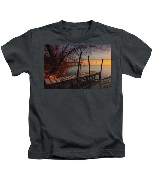 When The Light Touches The Shore Kids T-Shirt
