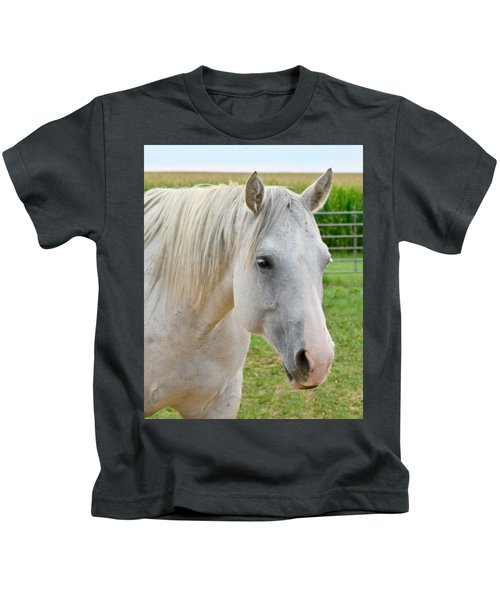 White Beauty Kids T-Shirt