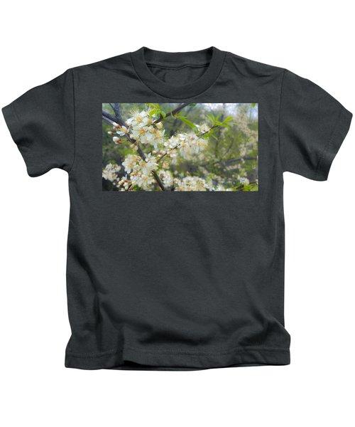White Blossoms On Fruit Tree Kids T-Shirt