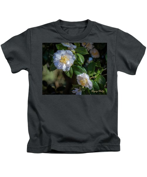 White Camelia 02 Kids T-Shirt