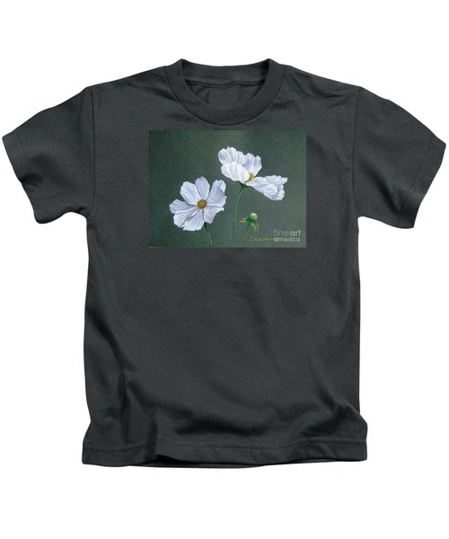 White Cosmos Kids T-Shirt