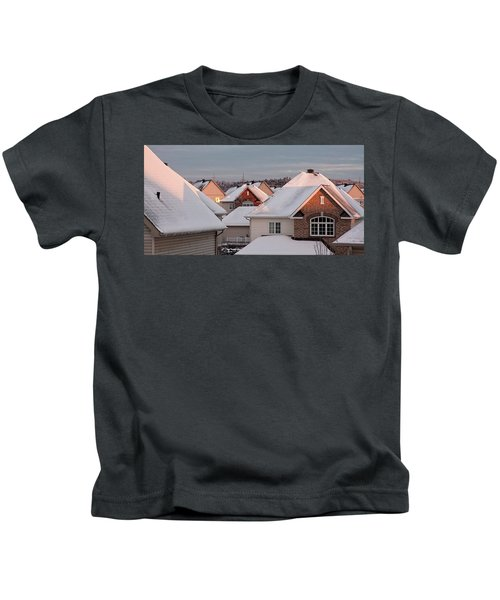 White December Rooftops Kids T-Shirt