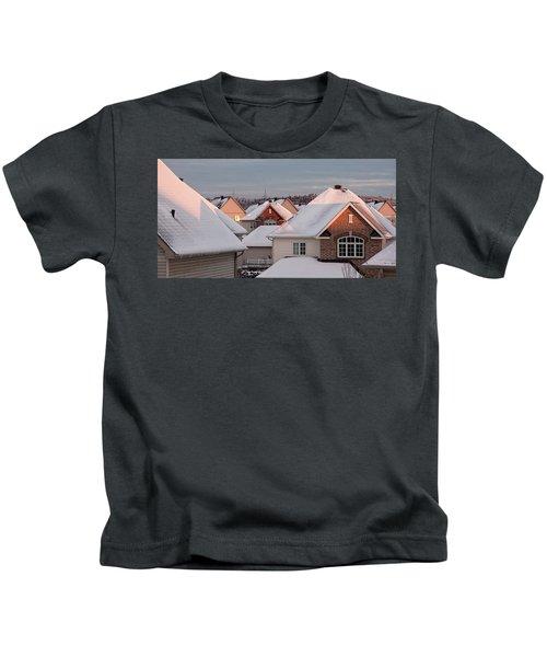 White December Rooftops Kids T-Shirt