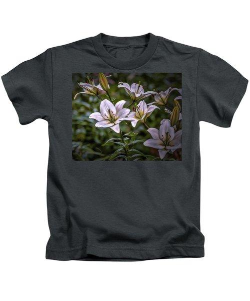 White Lilies #g5 Kids T-Shirt