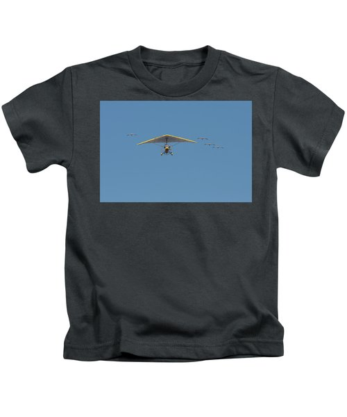 Whooping Cranes And Operation Migration Ultralight Kids T-Shirt