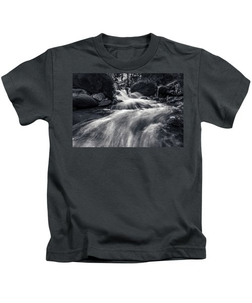 wild creek in Harz, Germany Kids T-Shirt