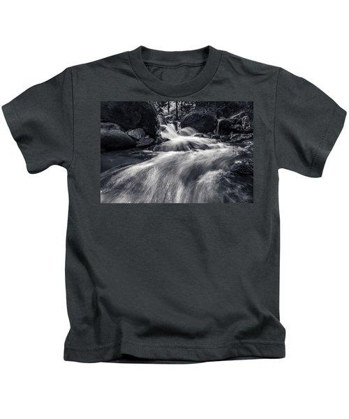 wild creek in Harz, Germany Kids T-Shirt