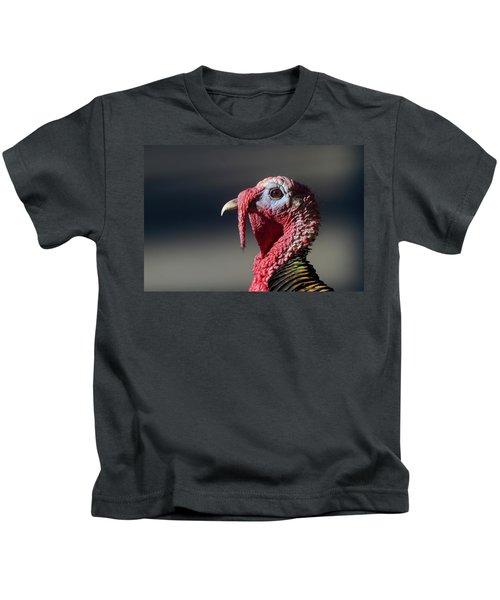 Wild Merriams Turkey Portrait  Kids T-Shirt