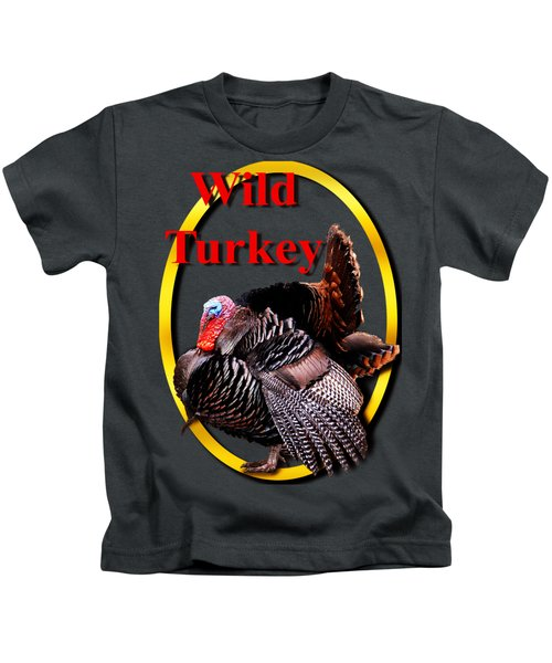 Wild Turkey Kids T-Shirt by John Furlotte