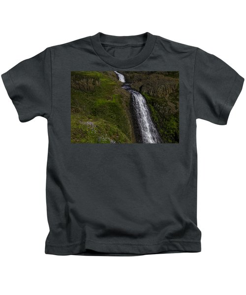 Wildflowers By Falls Kids T-Shirt