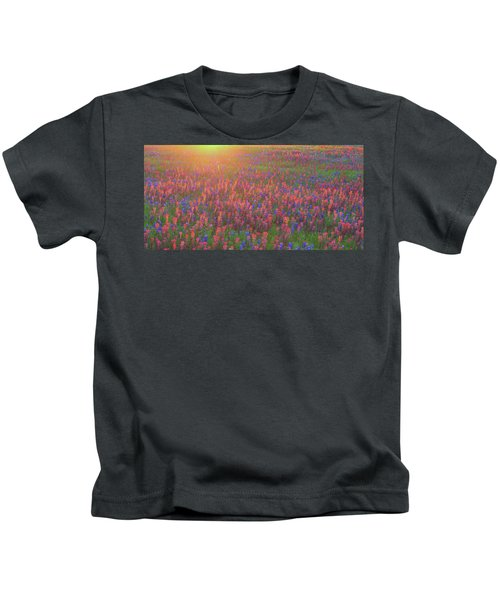 Wildflowers In Texas Kids T-Shirt