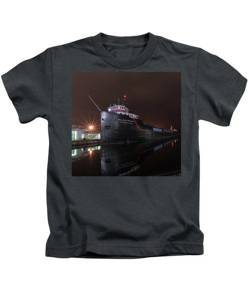 William G Mather At Night  Kids T-Shirt