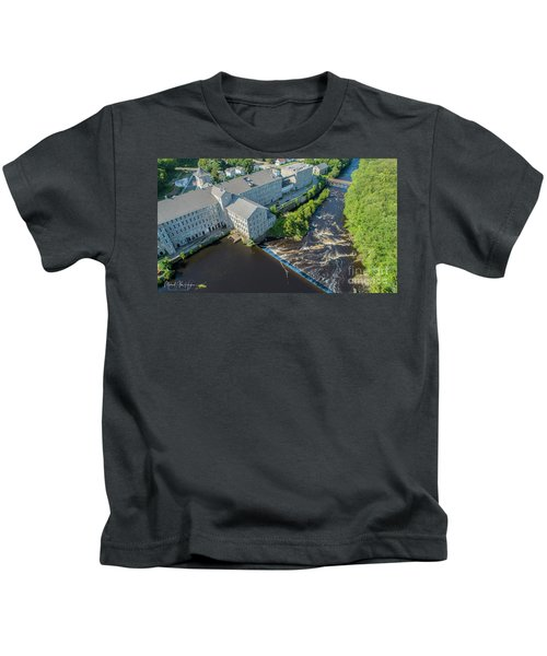 Willimantic River And Mill #2 Kids T-Shirt