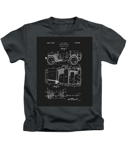 Willy's Military Jeep Patent Kids T-Shirt