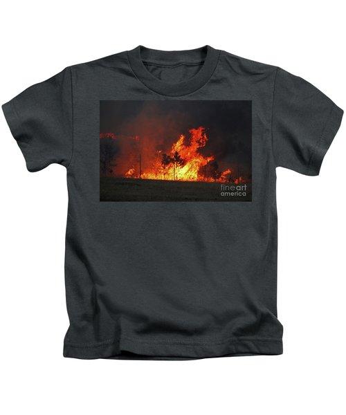 Wildfire Flames Kids T-Shirt