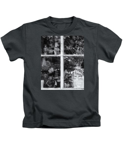 Window In Black And White Kids T-Shirt