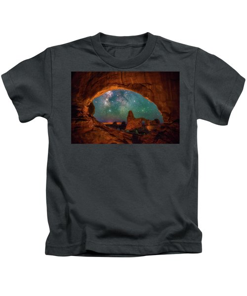 Window To The Heavens Kids T-Shirt