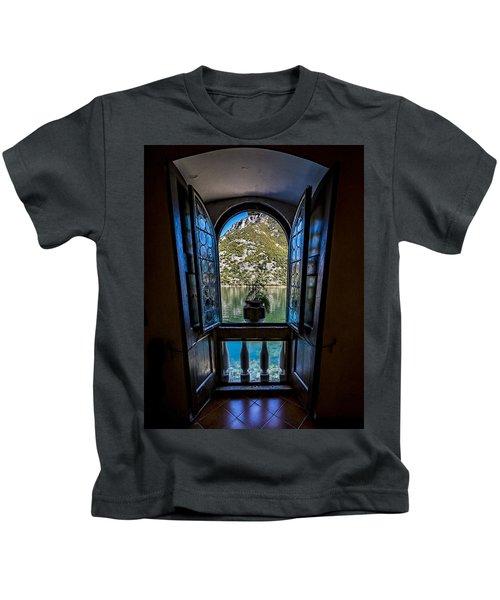 Window To The Lake Kids T-Shirt