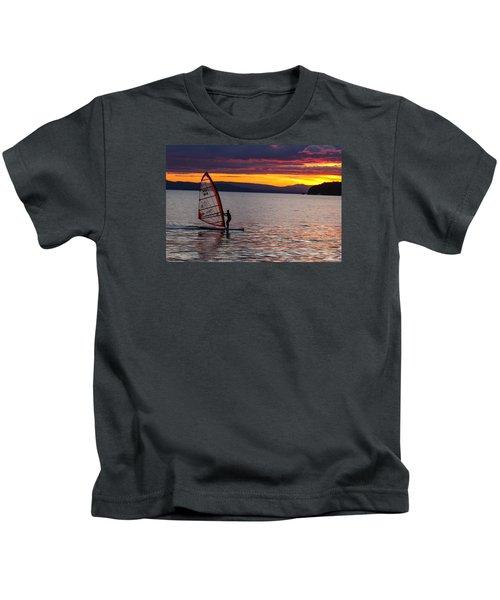 Windsurfing Lake Champlain Kids T-Shirt