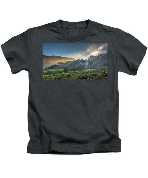 Windswept Trees On The Oregon Coast Kids T-Shirt