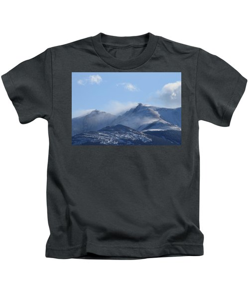 Windy Pikes Peak  Kids T-Shirt