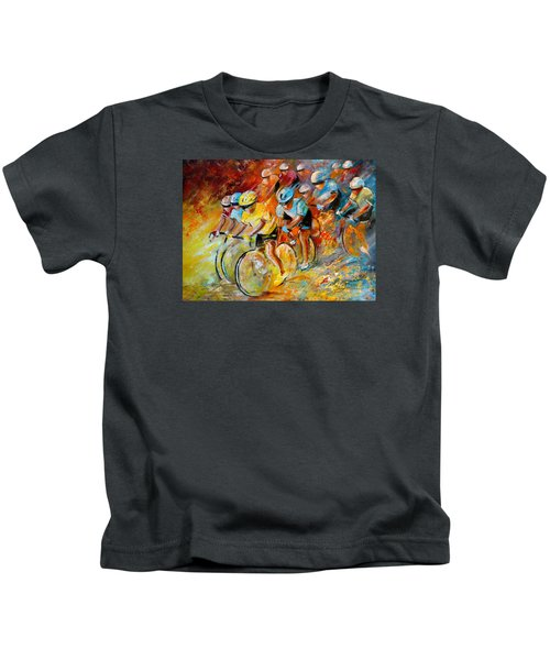 Winning The Tour De France Kids T-Shirt