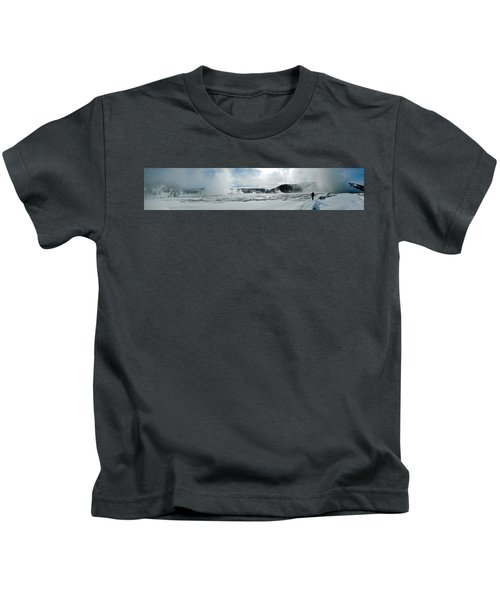 Winter At Grand Prismatic Kids T-Shirt