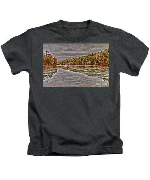 Winter At Pine Lake Kids T-Shirt