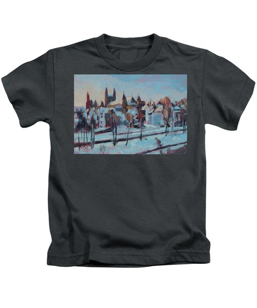 Winter Basilica Our Lady Maastricht Kids T-Shirt