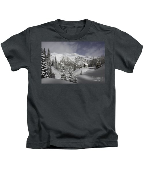 Winter Comes Softly Kids T-Shirt