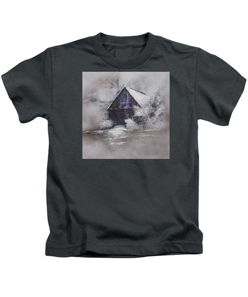 Winter Cottage Kids T-Shirt