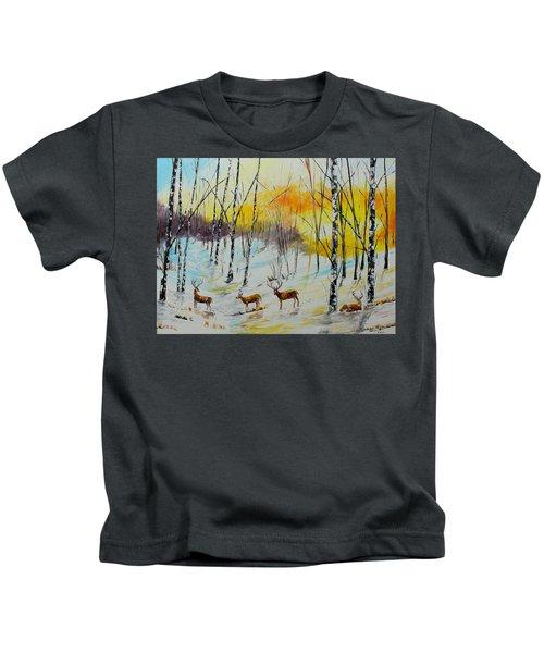 Winter Deer Kids T-Shirt