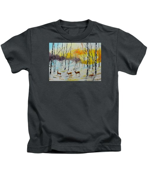 Winter Deer Kids T-Shirt