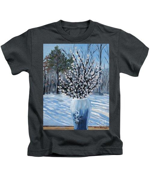 Winter Floral Kids T-Shirt