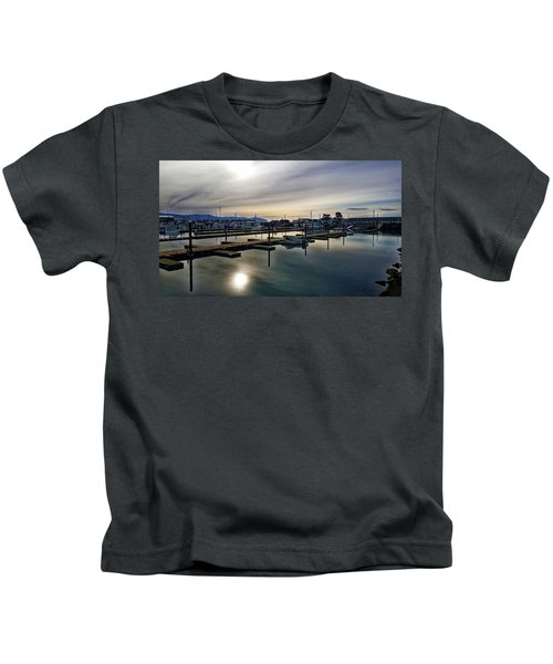 Winter Harbor Revisited #mobilephotography Kids T-Shirt