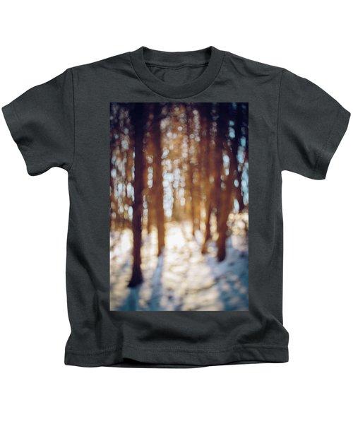 Winter In Snow Kids T-Shirt