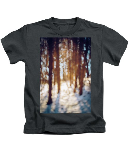 Winter In Snow Kids T-Shirt
