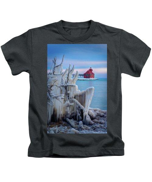 Winter Lighthouse Kids T-Shirt