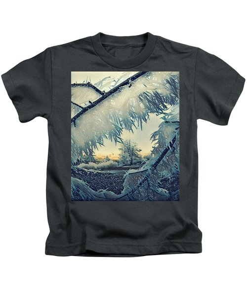 Kids T-Shirt featuring the photograph Winter Magic by Colette V Hera Guggenheim
