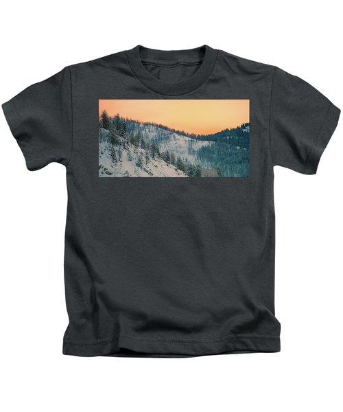 Winter Mountainscape  Kids T-Shirt