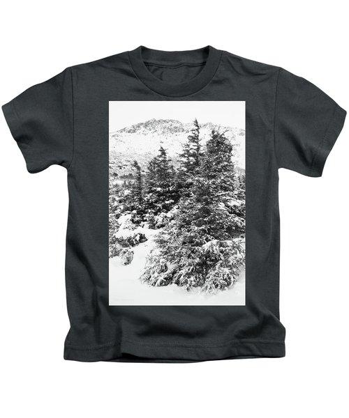 Winter Night Forest M Kids T-Shirt