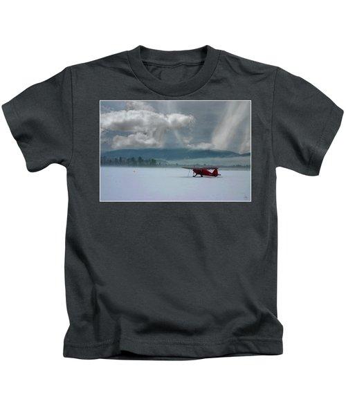 Winter Plane Kids T-Shirt
