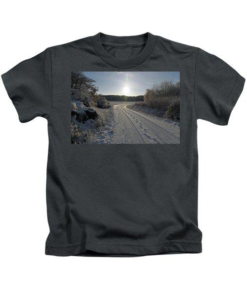 Winter Road Kids T-Shirt