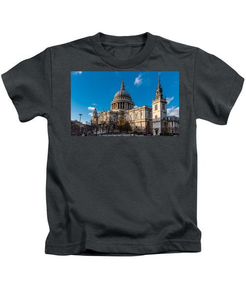 Winter Sun St Paul's Cathedral Kids T-Shirt