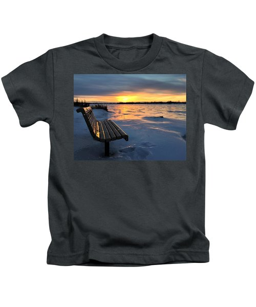 Winter Sunset Kids T-Shirt