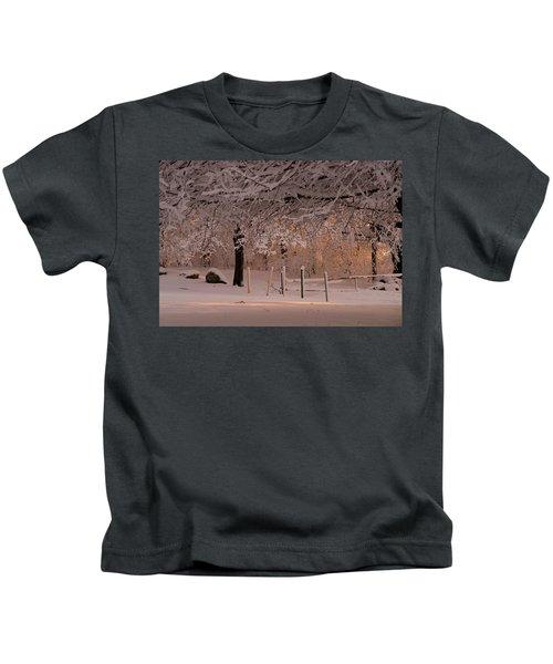 Winter Sunset Ft Hill Park Kids T-Shirt