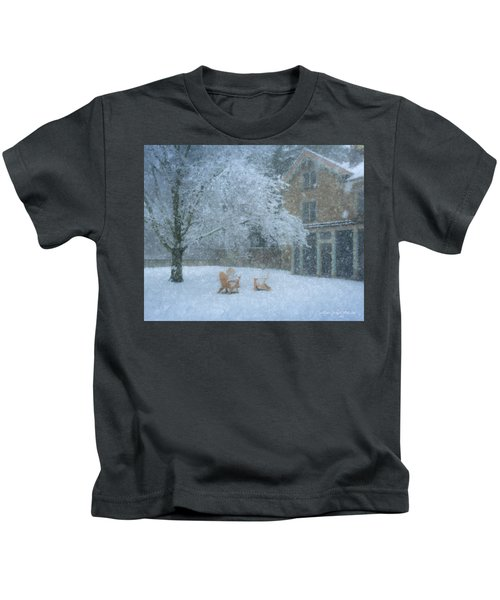 Winter Tea At Queset House Kids T-Shirt